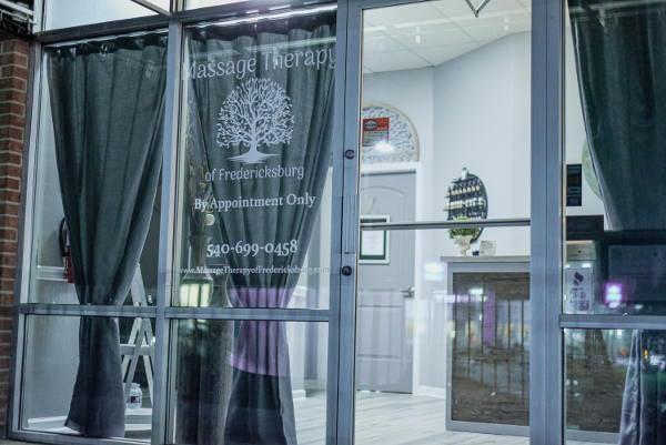 Front door of massage practice